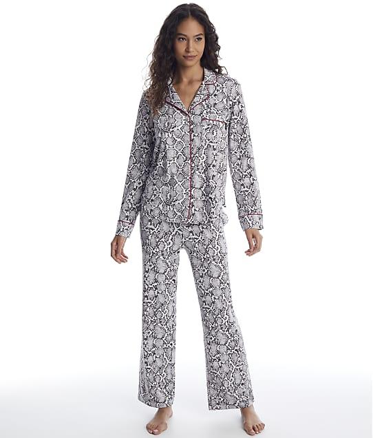 DKNY: White Snake Knit Pajama Set