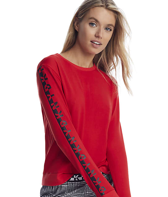 DKNY: Rube Red Knit Lounge Top