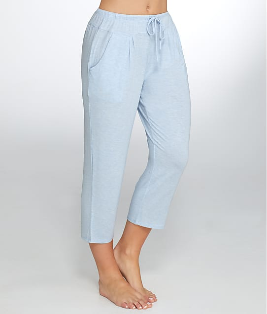 DKNY: Blue Note Knit Capri