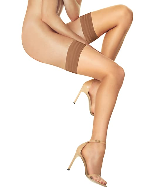 Donna Karan Hosiery Whisper Weight Thigh Highs in Tone A03 DKS003