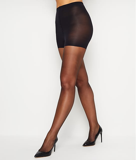 Donna Karan Hosiery Signature Ultra Sheer Control Top Pantyhose in Black D0B108
