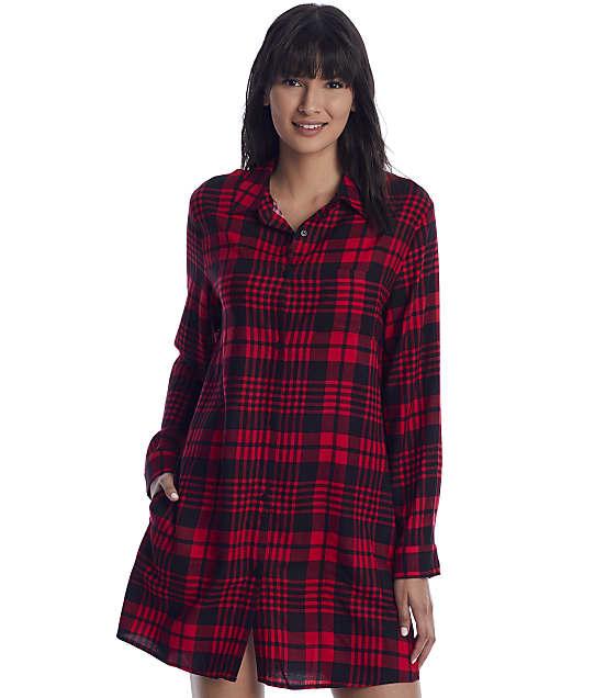 Donna Karan Sleepwear: Plaid Woven Sleep Shirt