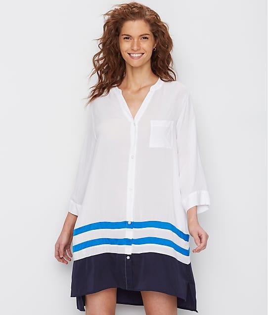 Donna Karan: Escape Striped Woven Sleep Shirt