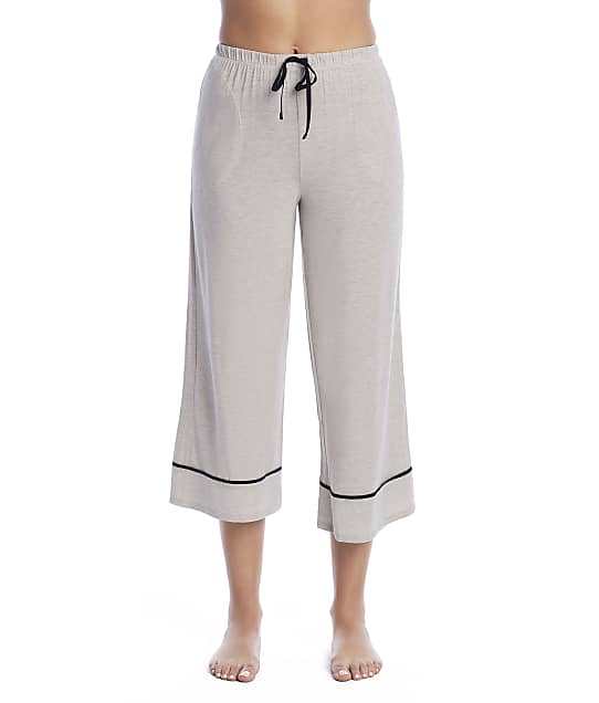 Donna Karan Sleepwear Elevated Neutrals Modal Capri Pajama Pants in Heather Brown D3723329