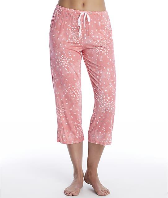 Donna Karan Sleepwear Endless Effortless Modal Sleep Capri in Coral Animal(Front Views) D3723334