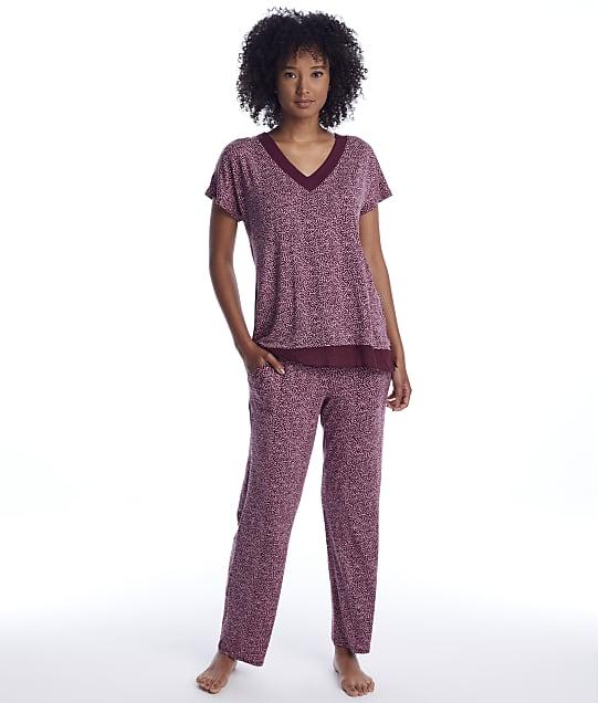 Donna Karan: Aubergine Modal Pajama Set