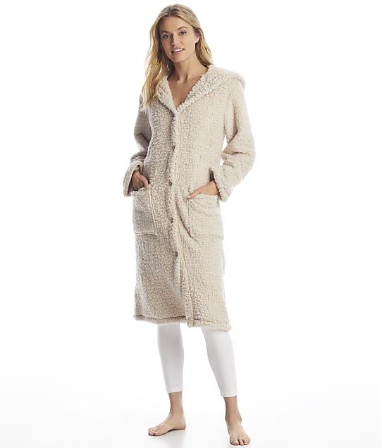 Donna Karan Sleepwear: Hooded Fuzzy Robe