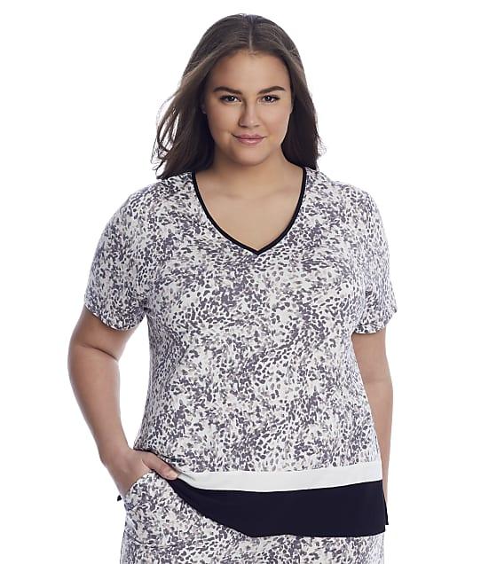 Donna Karan Sleepwear: Plus Size Elevated Neutrals Modal Sleep Top