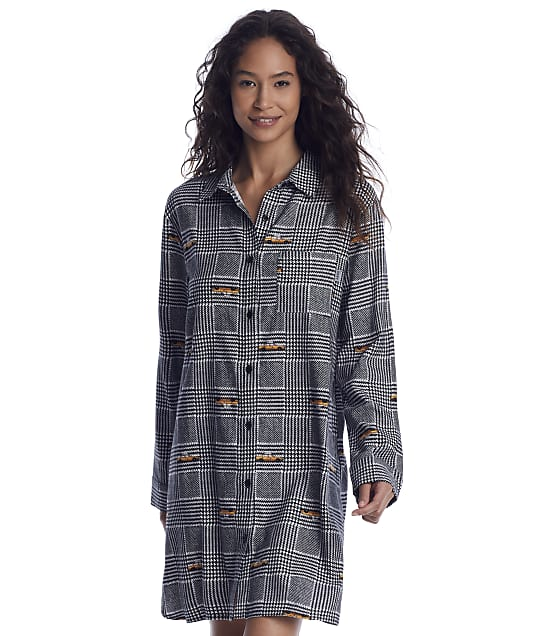DKNY: Houndstooth Woven Sleep Shirt