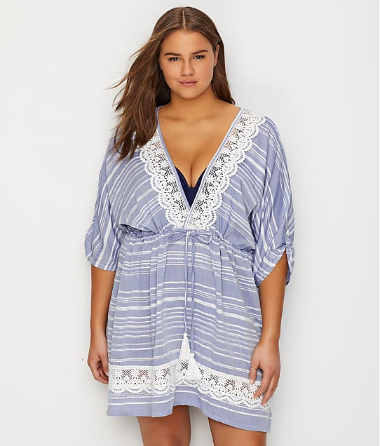 genuine shoes uk availability biggest selection Plus Size Tassel Swim Cover-Up