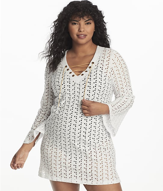 Dotti Poplar Skies Bell Sleeve Cover-Up in White DTPSC201