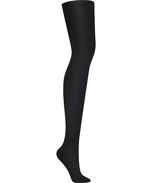 DKNY Skin Sense Fleece Tights in Black DYF004