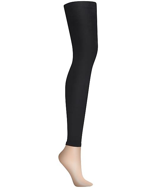 DKNY Skin Sense Fleece Leggings in Black DYF005