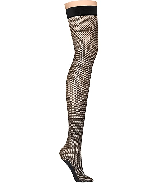 22adf44f6 DKNY Fishnet Thigh Highs