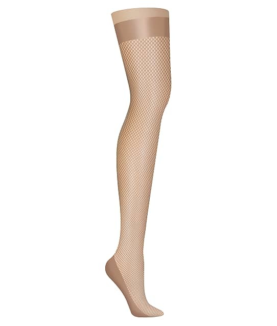 DKNY Fishnet Thigh Highs in Nude DYS028