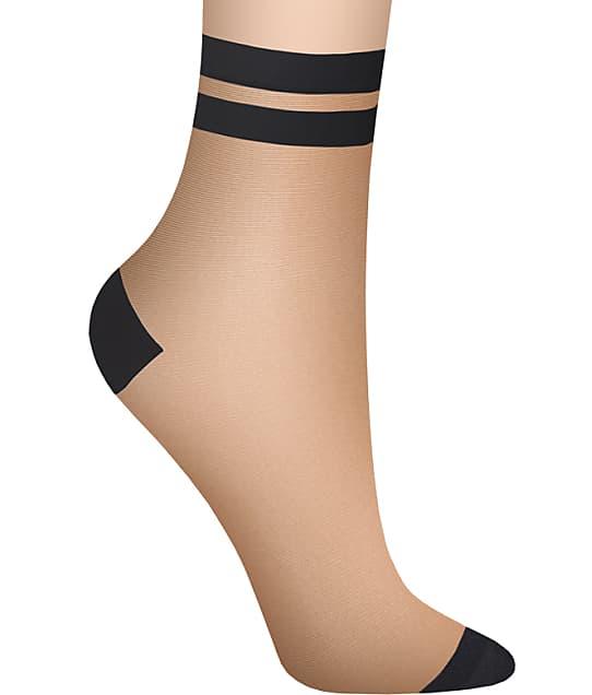 DKNY: Stripe Tip Anklet Socks