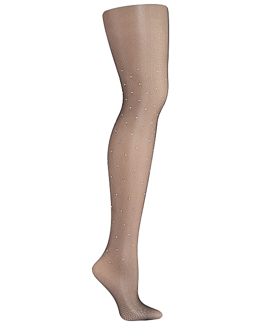 DKNY Stone Shine Tights in Black(Front Views) DYS083