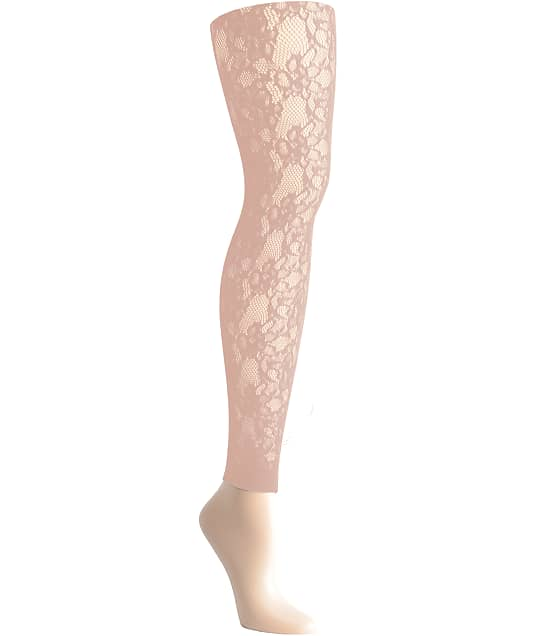 DKNY: Footless Lace Tights