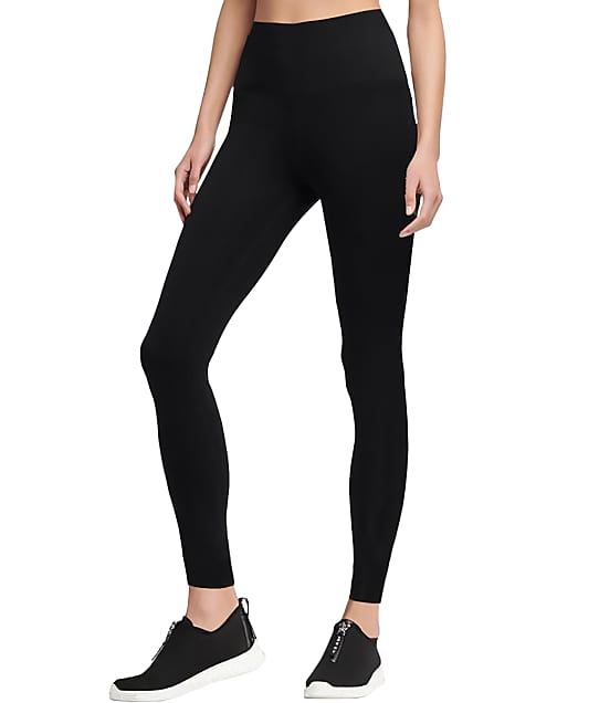 DKNY High-Waist Leggings in Black(Front Views) DYS211