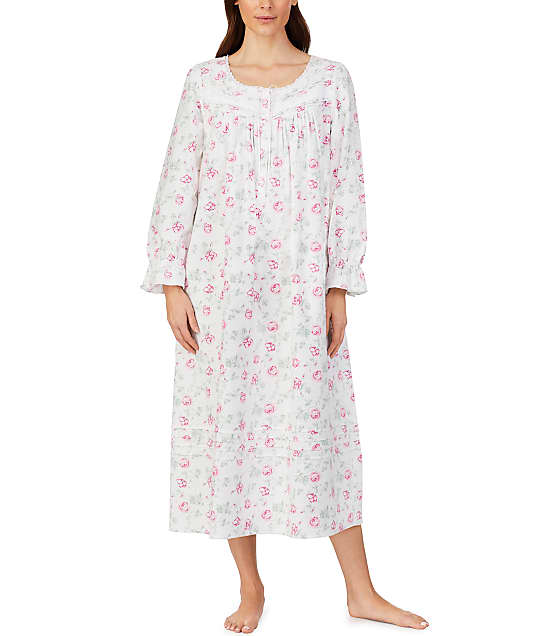 Eileen West: Pink Roses Flannel Ballet Nightgown