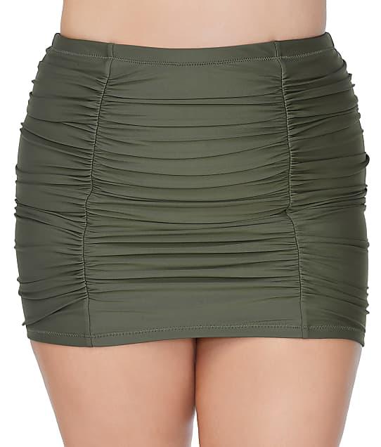 Raisins Curve Alicante Solids Costa Skirted Bikini Bottom in Sage E840069