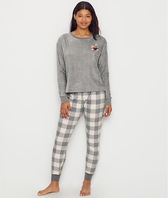 ED Ellen DeGeneres Sueded Fleece Dog Pajama Set in Grey E70132