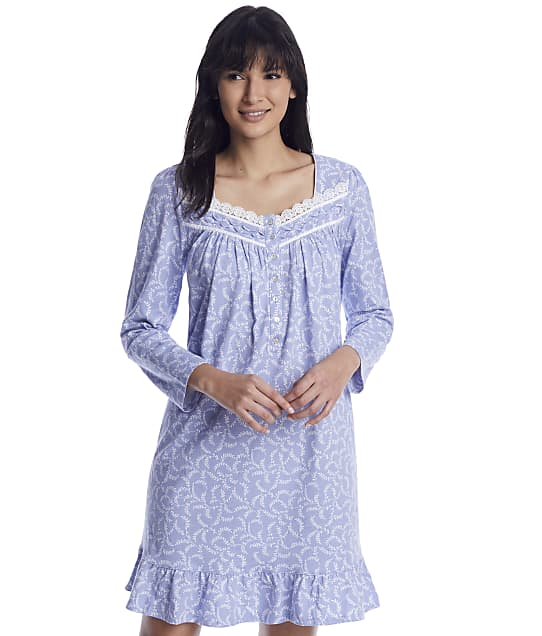 Eileen West: Calming Peri Knit Short Nightgown