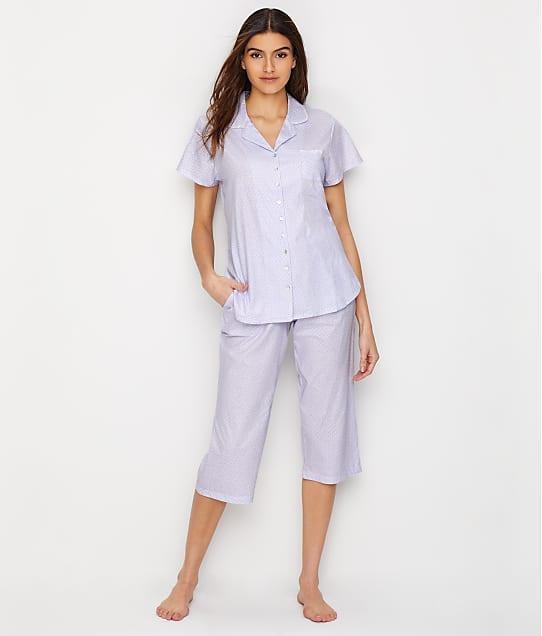 Eileen West: Jersey Knit Cropped Pajama Set