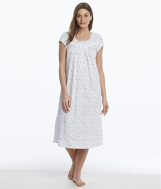 Eileen West: Floral Knit Nightgown