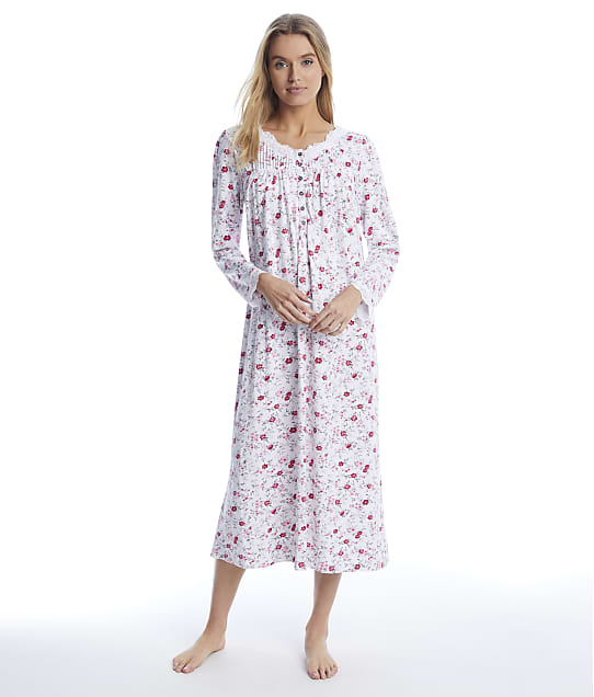 Eileen West: Cozy Roses Sweater Knit Ballet Nightgown