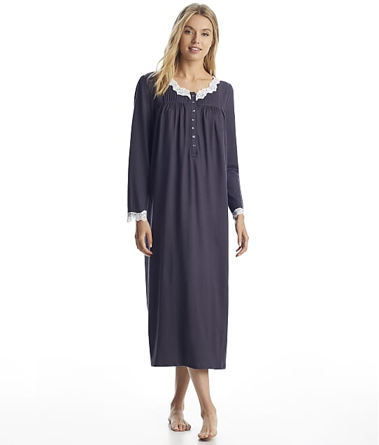 Eileen West: Charcoal Sweater Knit Ballet Nightgown