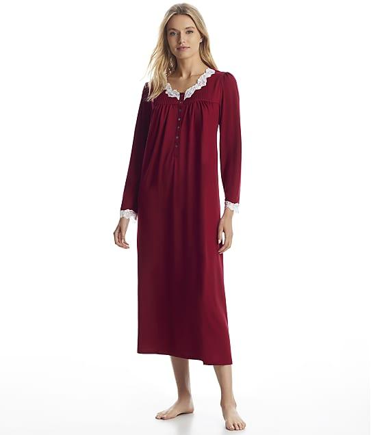 Eileen West: Wine Sweater Knit Ballet Nightgown
