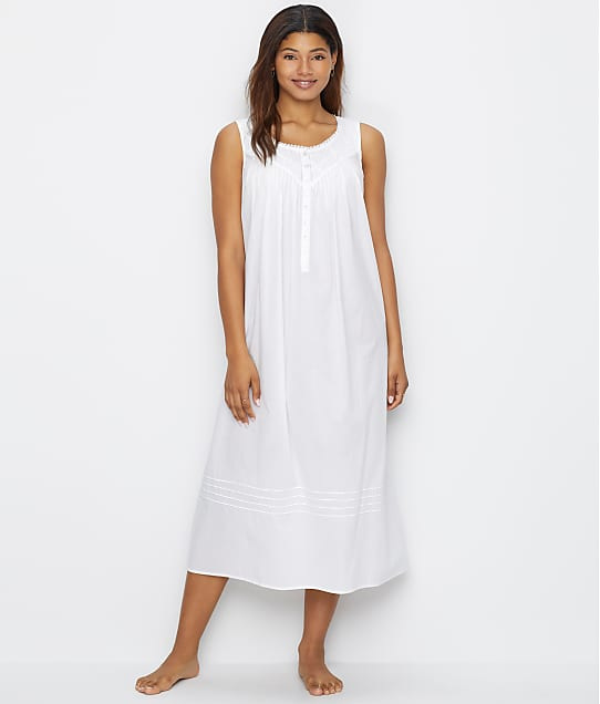 Eileen West Poetic Lawn Ballet Woven Nightgown in White(Front Views) E5219842