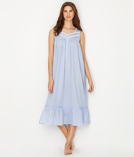 Eileen West: Classic Stripe Lawn Ballet Woven Night Gown