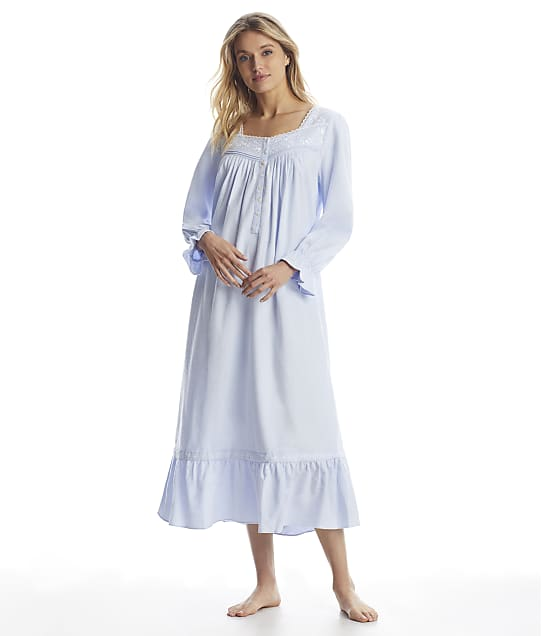Eileen West: Blue Ballet Flannel Nightgown