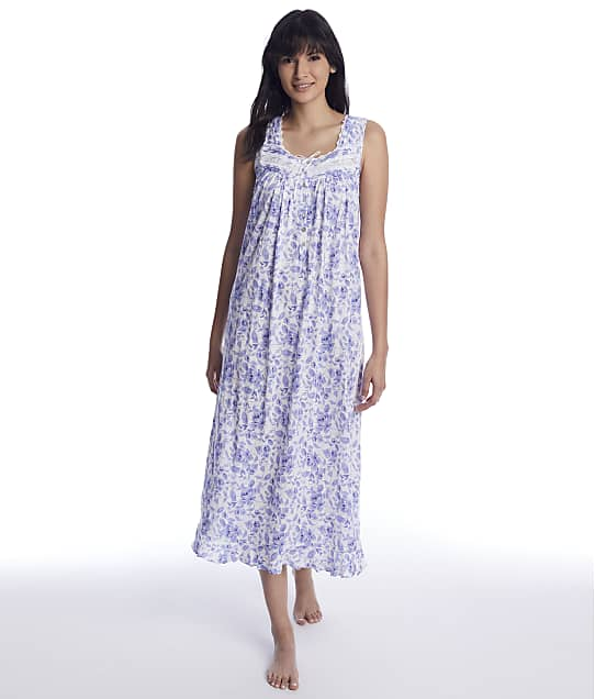 Eileen West: Azure Dreams Ballet Knit Nightgown