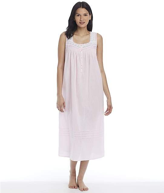 Eileen West Cotton Bliss Dobby Ballet Woven Nightgown in Rose E5220150