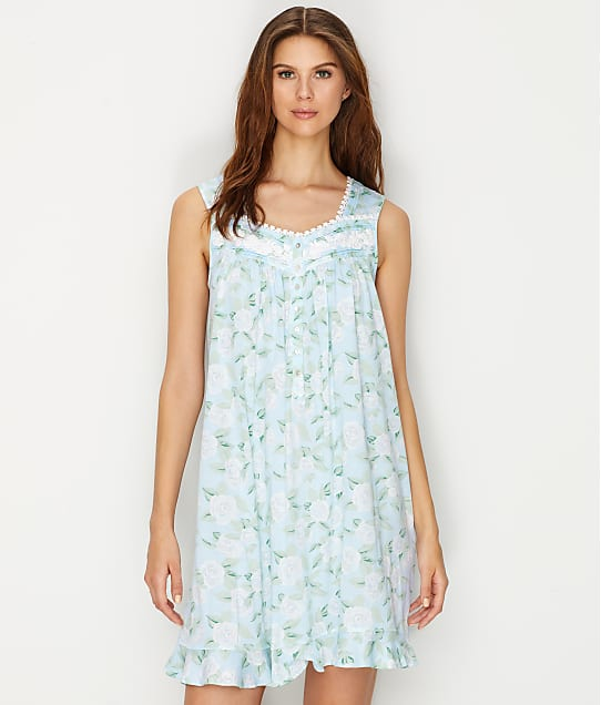 Eileen West: Floral Print Knit Night Gown