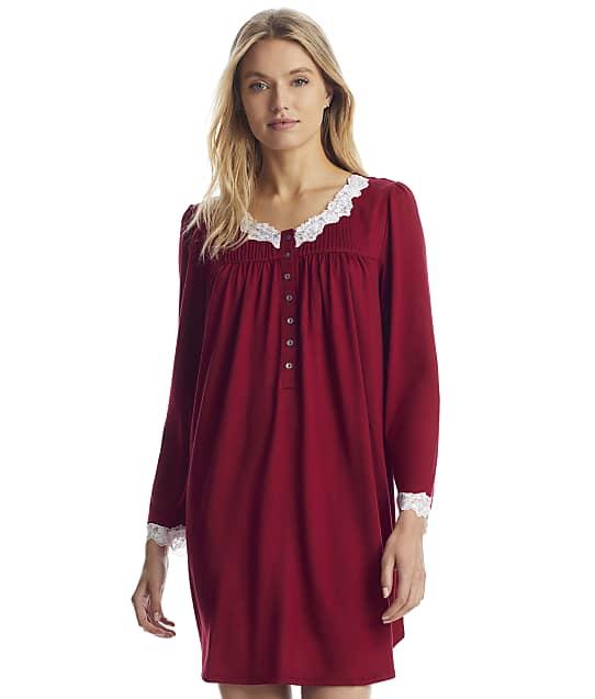Eileen West: Wine Sweater Knit Nightgown