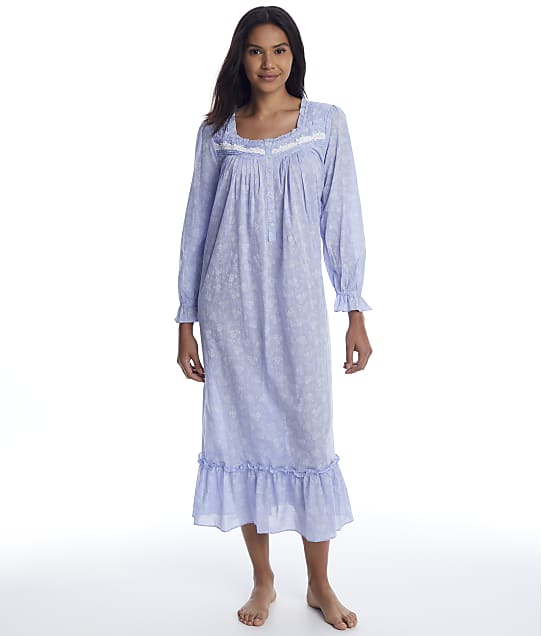 Eileen West: Chambray Ballet Woven Nightgown