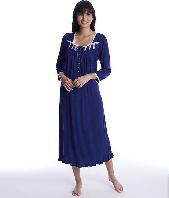 Eileen West: Indigo Modal Knit Ballet Nightgown