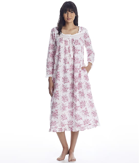 Eileen West: Berry Toile Ballet Woven Nightgown