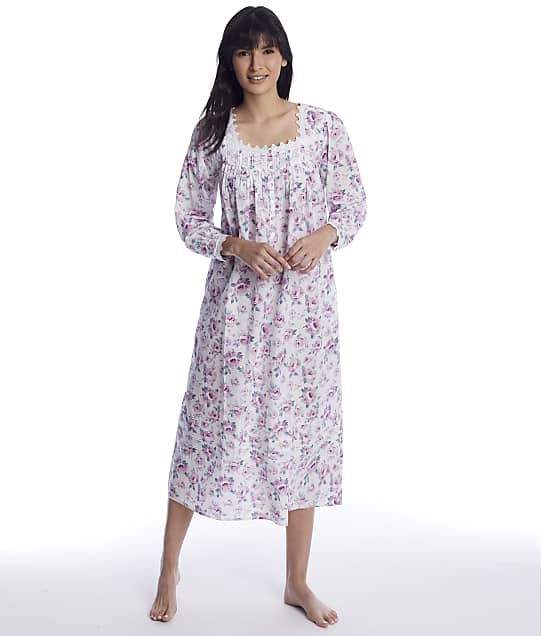 Eileen West: Antique Pressed Roses Ballet Woven Nightgown
