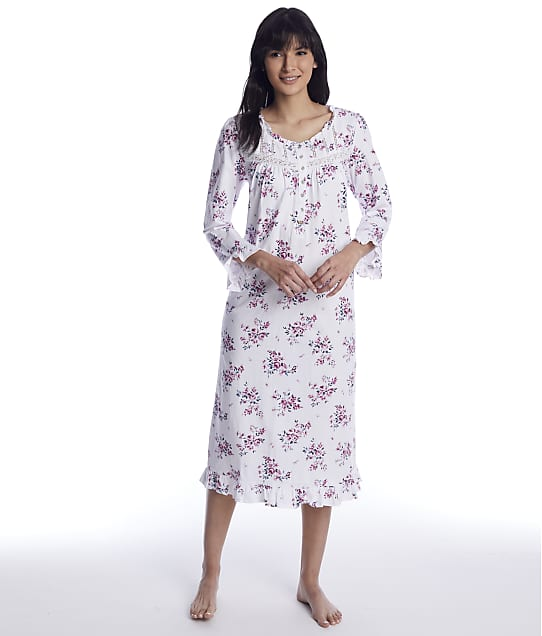 Eileen West: Plumberry Floral Waltz Knit Nigthgown