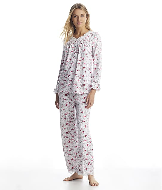 Eileen West: Cozy Roses Sweater Knit Pajama Set