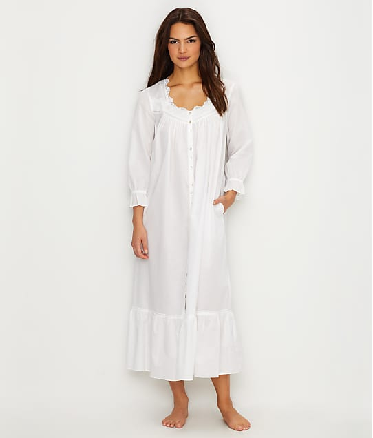 Eileen West: Lawn Ballet Button Down Woven Night Gown