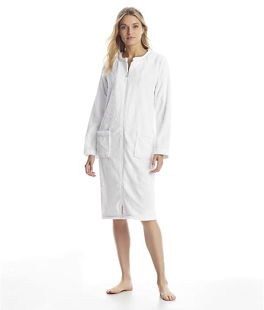 Eileen West: White Zip-Up Plush Robe