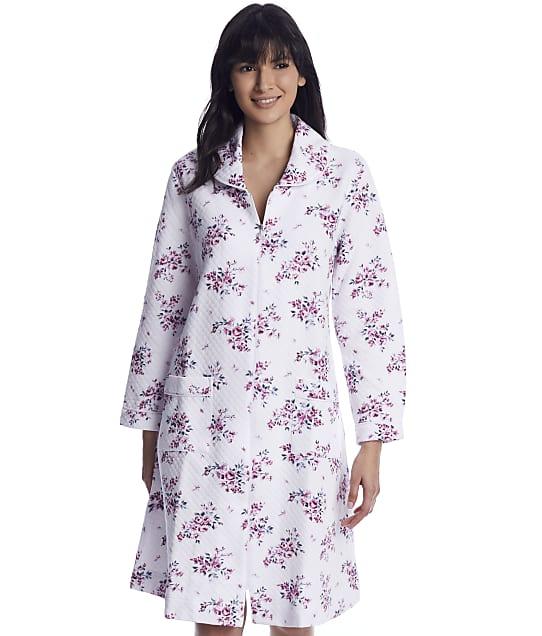 Eileen West: Plumberry Floral Quilt Waltz Zip Robe
