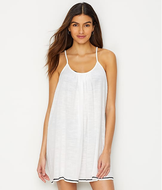 Elan Strappy Back Cover-Up in White CG5313