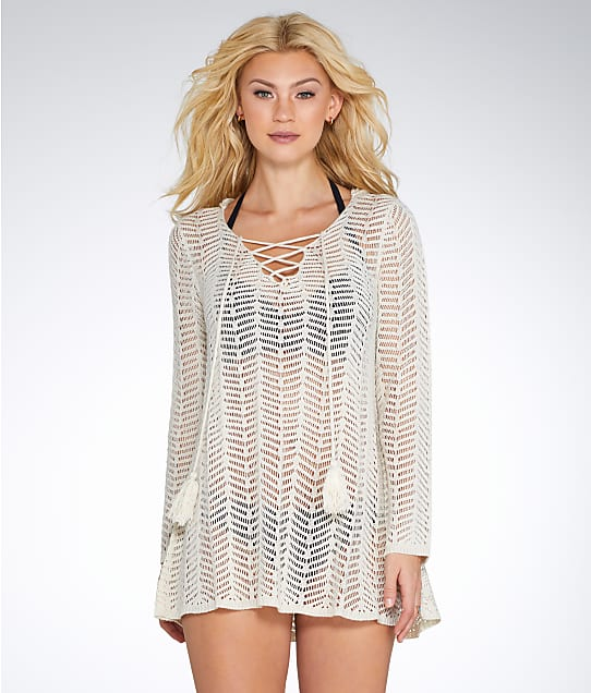 Elan: Crochet Hooded Cover-Up